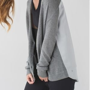 Lululemon | Cardi In The Front Heathered Grey